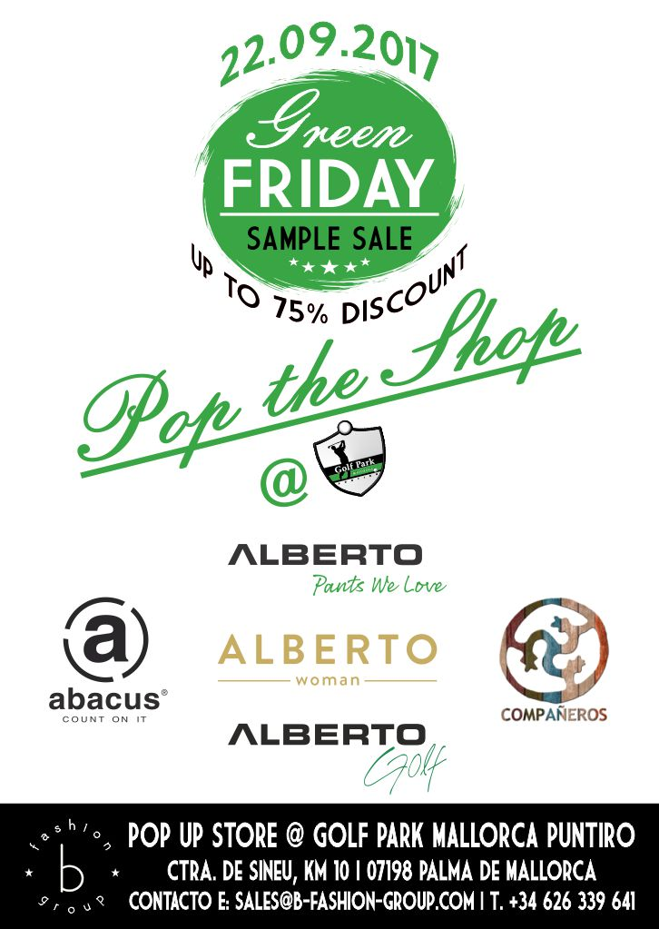 GREEN FRIDAY – Pop the Shop